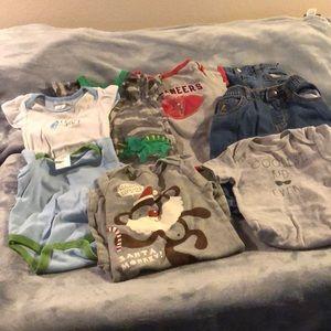 EUC 8 PIECES OF 3-6 MONTH BOYS CLOTHES